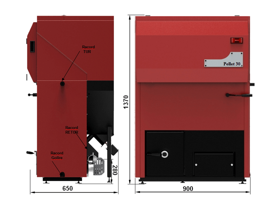 specificatii tehnice centrala pellet 30